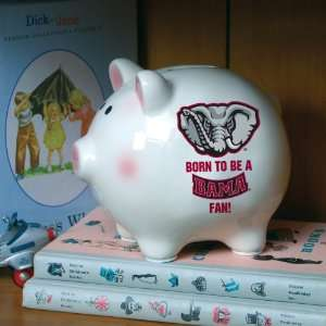 Pack of 3 NCAA Born To Be A Bama Fan Piggy Banks