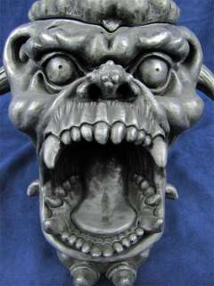 Large Screaming Gargoyle Head Astray / Stash Box Resin