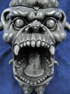 Large Screaming Gargoyle Head Astray / Stash Box Resin