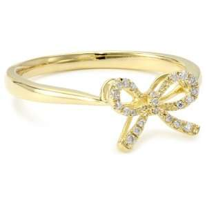 KC Designs Trinkets 14k Yellow Gold and Diamond Baby Bow