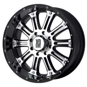 17x9 KMC XD Hoss (Gloss Black w/ Machined Face) Wheels