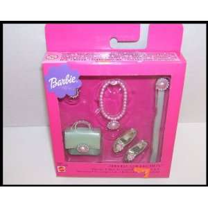 Barbie Doll Glamour Set in Green Silver & Pink Toys & Games