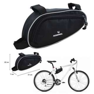 Bike Bicycle Cycling Sport Frame Triangle Front Tube Bag Black