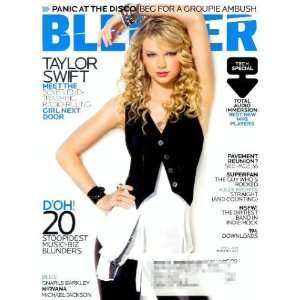 Blender Single Issue Magazine Taylor Swift on Cover (April