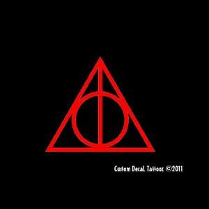 Deathly Hallows Harry Potter Car Window Decal Sticker Red
