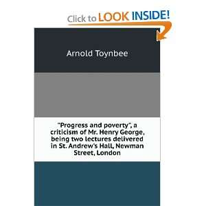 in St. Andrews Hall, Newman Street, London: Arnold Toynbee: Books