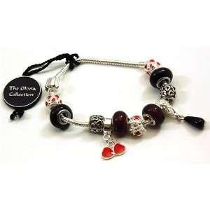 TOC BEADZ Branded Valentine Love Heart Bead Bracelet