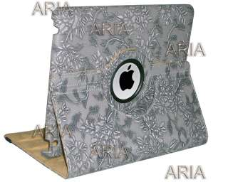 iPad 2 Ultra stylish 360° Rotating Leather case Smart Cover w