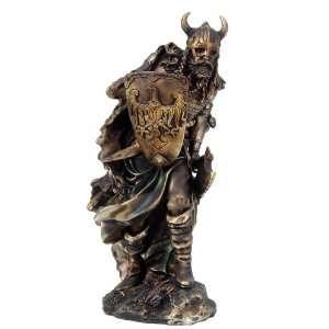 Viking Warrior Large Statue Bronze Finishing Cold Cast Resin Statue 18