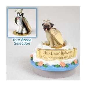 Black & White Husky w/Brown Eyes Candle Topper Tiny One