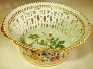 Vintage Royal Copenhagen Flora Danica Porcelain Large Round Fruit