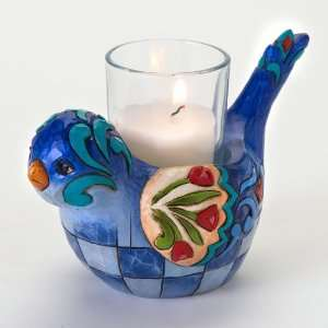 Enesco Jim Shore Bluebird Candle Holder Patio, Lawn