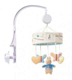 Beatrix Potter Peter Rabbit Baby Cot Musical Mobile NEW 13879