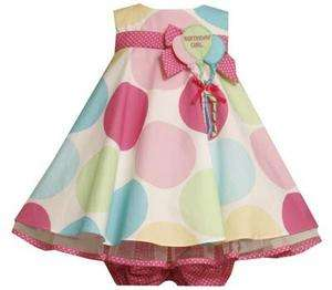 Bonnie Jean Baby Girls Large Polka Dot Pastel Balloon Birthday Party