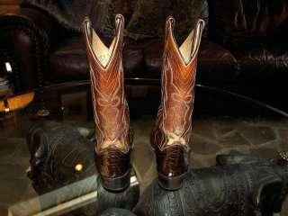 Dan Post Mens Exotic Alligator Cowboy Western Boots Size 8.5 D