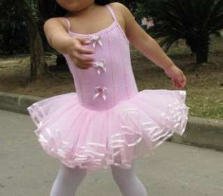 NWT Girl Birthday Party Leotard Ballet Tutu Costume Dance Skirt Dress2