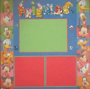 DISNEY FRIENDS BOY GIRL VACATION LOT 2 PREMADE SCRAPBOOK PAGES 12X12