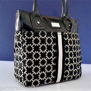 Tommy Hilfiger Black Handbag Tote Purse Bag
