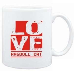 Mug White  LOVE Ragdoll  Cats