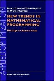 New Trends in Mathematical Programming Homage to Steven Vajda