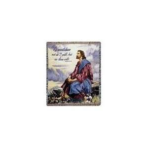 As Thou Wilt Matthew 2539 Jesus Bible Verse Tapestry