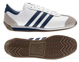 Originals Mens COUNTRY 2.0 Shoes Retro White Navy Blue Cross Running