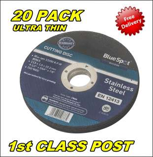 20PK ULTRA THIN METAL CUTTING DISC DISK 4.5 115mm 5028734196665