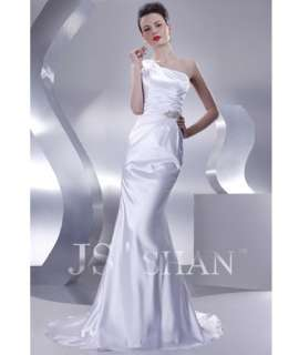 JSSHAN Bridal Beach Wedding Evening Gown Prom Dress