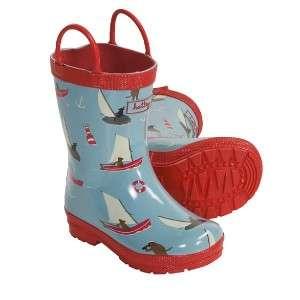 NEW Hatley Rain Boots  Sailing Dogs Kids Boys / Girls