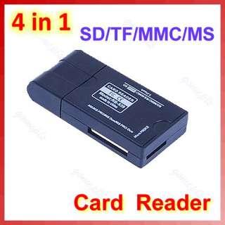 Mini 4 in 1 USB Memory Card Reader Writer MS M2 SD MMC