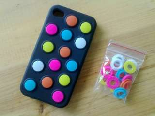 New Colorful Bean Silicone Skin Case fr iPhone 4 OS 4G