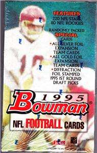 Factory Sealed Bowman Football Boxes 1993 1994 1995 Loaded W/ Gold