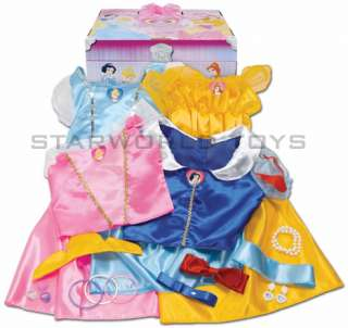 Disney Princess Royal Dress Up Trunk 21 pc Costume Snow White