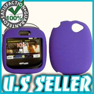 RUBBER PURPLE HARD SNAP CASE COVER FOR SHARP KIN 1 ONE