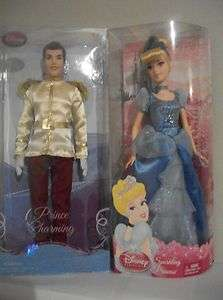 NEW DISNEY PRINCESS CINDERELLA PRINCE CHARMING BARBIE DOLL