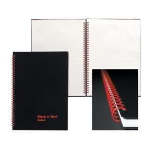 Black n Red Wirebound Hardcover Book with Calculator