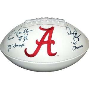 Prince Wimbley and David Palmer Dual Autographed Alabama Crimson Tide