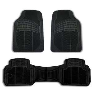 FH V16404 High Quatlity Vinyl Floor Mats Black Automotive