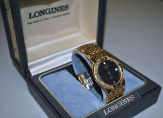 LONGINES LAUREATE GOLD & DIAMOND MENS WRIST WATCH W/ ORIGINAL BOX