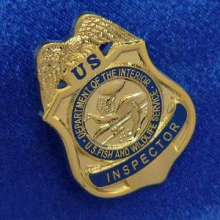 USFWS Fish Wildlife Service Inspector Mini Badge Pin