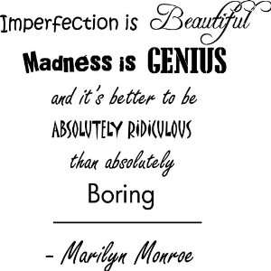 Madness Is Genius Marilyn Monroe style #1 Vinyl Wall Art Decal Home