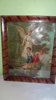 Vintage Victorian Era Guardian Angel and Children Religious Catholic