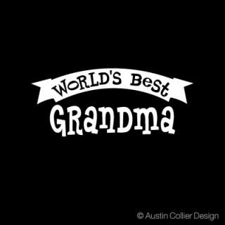 WORLDS BEST GRANDMA Vinyl Decal Car Window Sticker