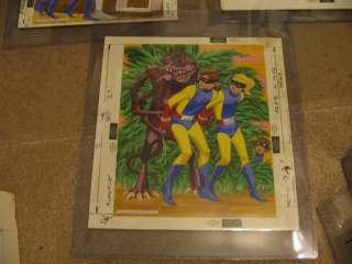 SPACE GHOST 1967 Hanna Barbera original art puzzle vintage alien