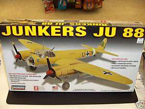 LINDBERG 1/72 JUNKERS JU 88 MODEL KIT GERMAN WWII PLANE