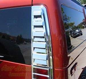 H2 Chrome REAR VENT COVER taillight tail intake bezels
