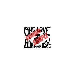 BOB MARLEY ONE LOVE 12.5 BAND WHITE VINYL DECAL STICKER