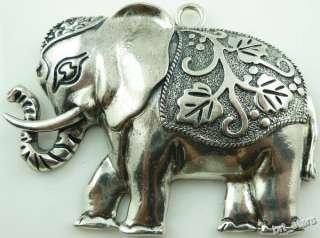 5PCS Tibetan silver Big Elephant charms Pendants 75mm