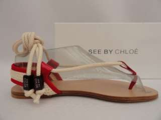 BN See by Chloe Billy Jean Strap Sandals Shoes UK5 38