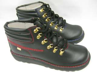 Mens kicker boots black and red and black and blue Kh hike perf